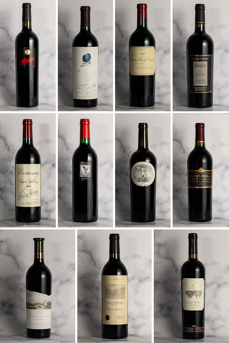 1994 Napa Cabernets - 25 Years On Dinners (Hong Kong)