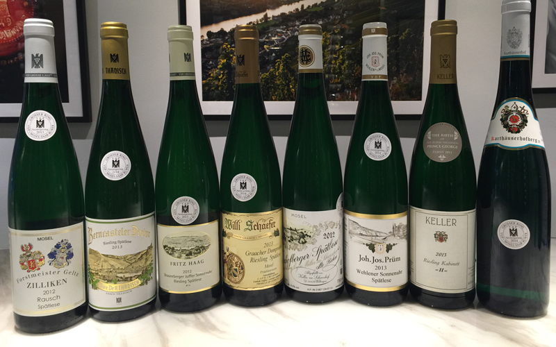 2016 German Auction Riesling Tutored Tasting, 2:30pm, Saturday, 9th June