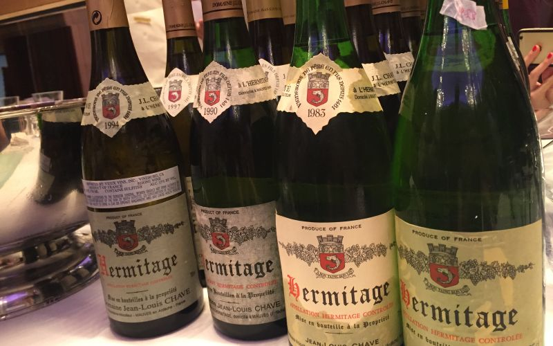Domaine J-L Chave Hermitage Dinner, Wednesday, 14th March - Mature Vintages Back to the 1970s