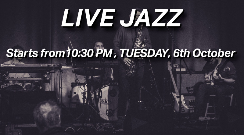 Join Our First Ever Jazz Night on 6th October