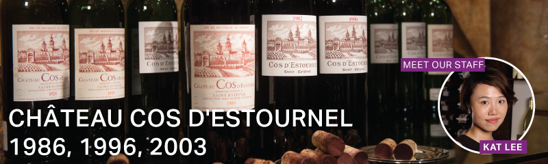 Fine Wine Friday: Château Cos d'Estournel 1986, 1996, 2003