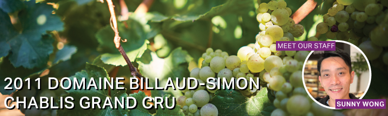 Fine Wine Friday: 2011 Domaine Billaud-Simon Chablis Grand Cru