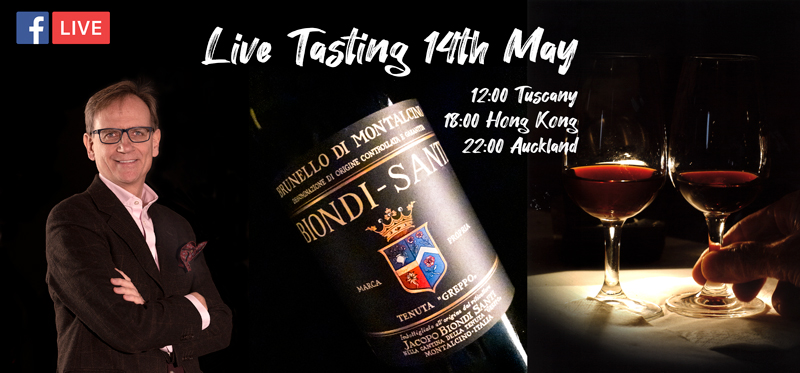 Join us free for a live chat and tasting with Biondi-Santi's CEO, 14th May